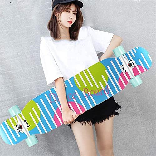 LSWY Yeenuo 42x9 pouces Planche à roulettes longboard Longboard Longboard Débutant de pont Maple Cruiser Cruiser Freestyle, Camber Concave - Pour les jeunes adultes Jeunes enfants Débutant fille et ga