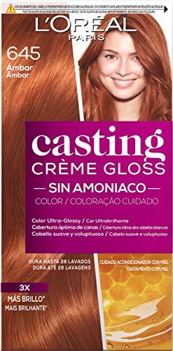 L'Oréal Paris Casting Crème Gloss Coloración Sin Amoniaco, Tono: 645 Ambre