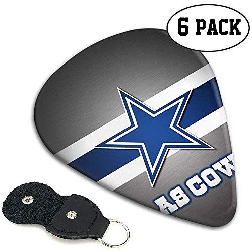 Gitarren-Plektren mit Dallas-Cowboys-Logo, Gitarren-Plektren mit Dallas-Cowboys-Logo im 6er-Pack