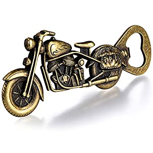 MULTI-PURPOSE - A great beer gift for dad, husband or boyfriends. Also can be used as bottle opener for beer and soda bottles in a home bar, kitchen, club or pub, as a souvenir. UNIQUE DESIGN - Old-fashioned design with motorcycle pattern makes it no...