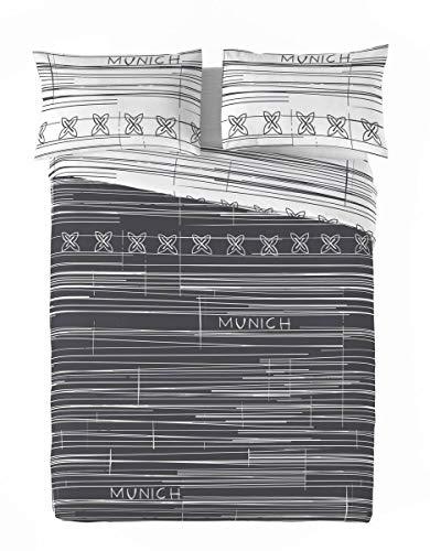 Munich Funda nórdica Reversible Kobe Grafito Cama 90 cm (207759)
