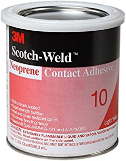 3M 20272 Neoprene Contact Adhesive 10 Light Yellow, 1 qt