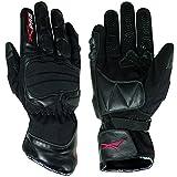 A-Pro Textil guanti in pelle per motocicletta e scooter, impermeabili, con imbottitura spessa,...