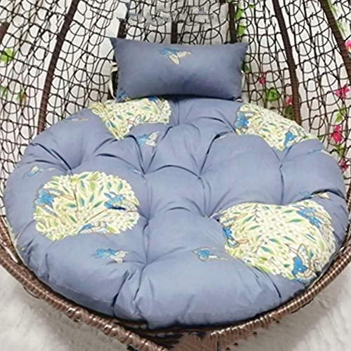 Cojín redondo para silla Papasan con almohada grande espesar silla de mimbre ratán huevo nido colgante huevo hamaca cojín para exterior