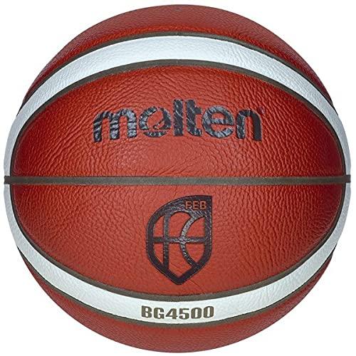 MOLTEN S3200109 Balón de Baloncesto, B7G4500, Cuero Sintético, Talla 7, Marrón, Unisex Adulto