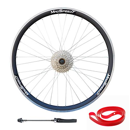 Madspeed7 QR 26' (ETRTO 559x19) Mountain Bike REAR Rim/Disc Brake Wheel 8 speed Freewheel