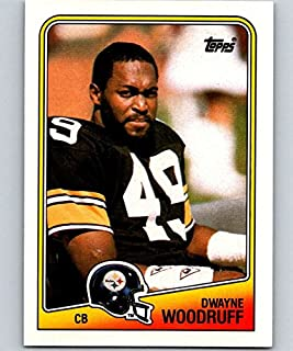 1988 Topps Football #174 Dwayne Woodruff Pittsburgh Steelers Official NFL Trading Card