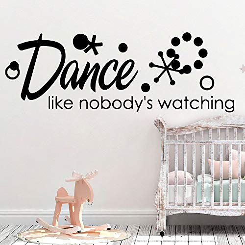 Nuevo diseño de danza, accesorios para el hogar para habitación infantil, decoración del hogar, arte mural adhesivo decorativo para pared (L: 57 x 19 cm)