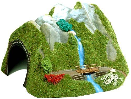 Hornby France - Busch - 3007 - Circuit - Train - Tunnel ho+cascade et pont