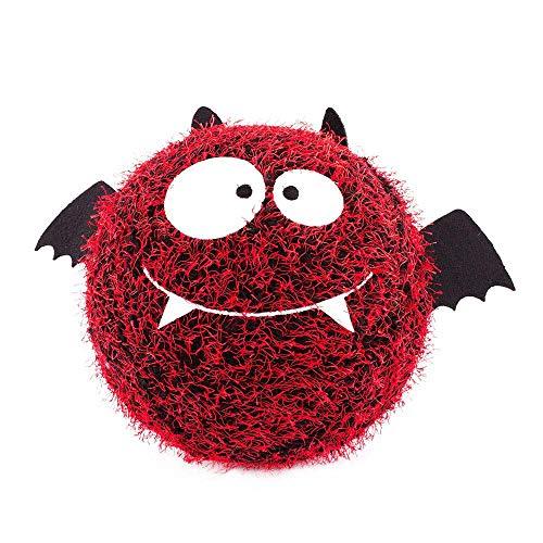 S'cool Fuzzy Ball, aufblasbare Kuschelige Gesicht-Ball Fuzzy, 23cm Bat Rot