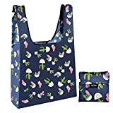 Reusable Grocery Bags Portable Fold Shopping Tote Bags with Pouch - Cactus 1 Pack