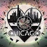 YINU La Ciudad de EE. UU. Chicago Skyline Reloj de Pared 3D Diseño Moderno...