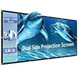 Projector Screen Anti-Light Portable and Foldable Movie Screen for Movie Nights Backyards Pool Party (100/110/120/130/133inch)