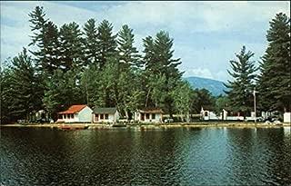 Greenwood Cabins on North Pond - Route 26 Locke Mills, Maine Original Vintage Postcard