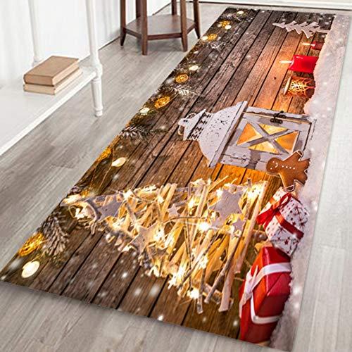 Christmas Area Rug, Frohe Weihnachten Fußmatten Teppiche Dekor für Wohnzimmer Schlafzimmer Küche Weihnachten Teppich Bodenmatte Urlaub Dekorationen