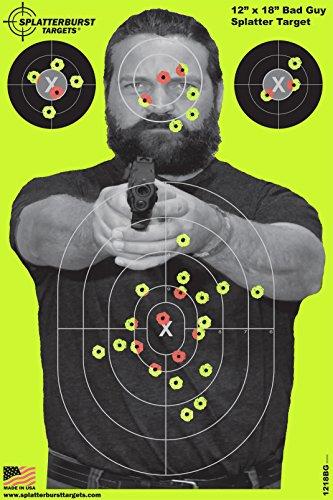 """Paket von 25 - Splatterburst Targets - 30,5 x 45,7 cm Reaktive \""""Bad Guy\"""" Schießscheiben - Gewehr - Pistole - AirSoft - BB Gun - Luftgewehr"""