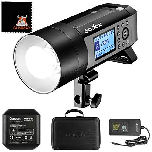 GODOX AD400Pro Witstro All-in-One Outdoor Flash Light Monolight 2.4G Wireless HSS 1/8000s TTL 400Ws for Sony Canon Nikon Fujifilm Olympus Panasonic (Godox AD400Pro)