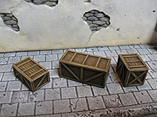Reality In Scale 1:35 Small Shipping Crates 6pc w Rope - Resin Accessory #35130