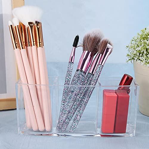 Qqmora Caja de Almacenamiento cosmética del Tenedor del Cepillo del Maquillaje para el Cuarto de baño para el salón para el hogar