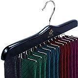 MATAYA Krawattenhalter - Krawattenbügel aus Holz - Premium Kleiderschrank Kleiderbügel