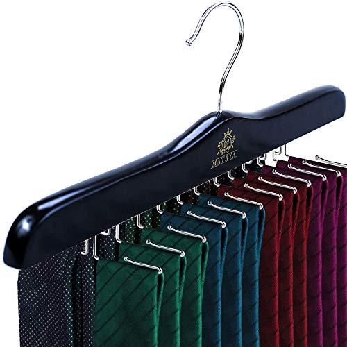 MATAYA - Portacravatte in legno nero, per 24 cravatte