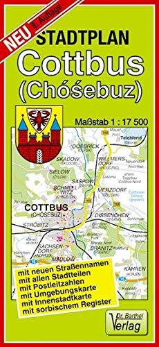 Stadtplan Cottbus: Maßstab 1:17500