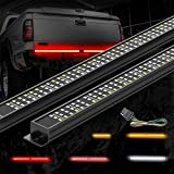 MICTUNING Triple Tailgate Light Bar Waterproof Plug-and-Play Aluminum Frame with 4-Way Fla...