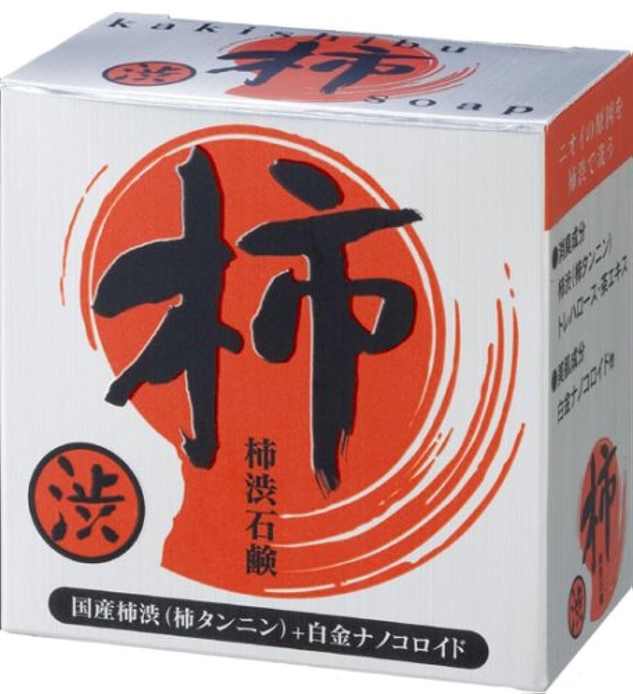 絵空気肌寒いプロアクティ 純国産柿渋石鹸 100g 白金ナノコロイド配合!