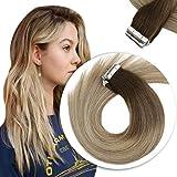 [Promocion] Sunny Extensiones de Cabello Natural Adhesivas 14 Pulgadas Tape in Human Hair...