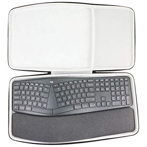 co2crea Hard Travel Case for Logitech Ergo K860 Wireless Ergonomic Keyboard