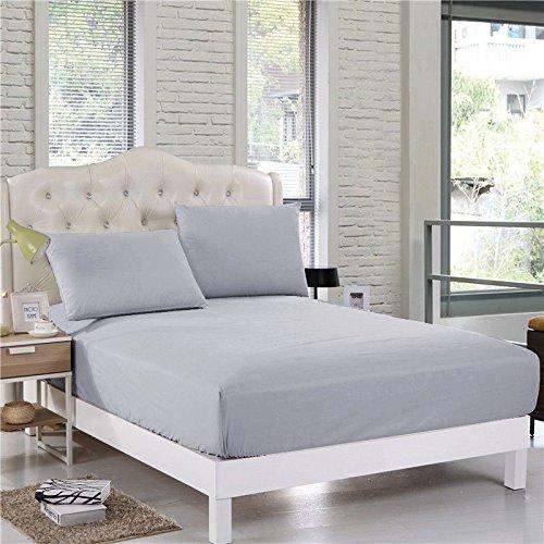 Confort Phalanges 800 6pièce Parure de lit Euro King IKEA Taille 100% Coton égyptien Massif, Gris argenté, Euro King IKEA