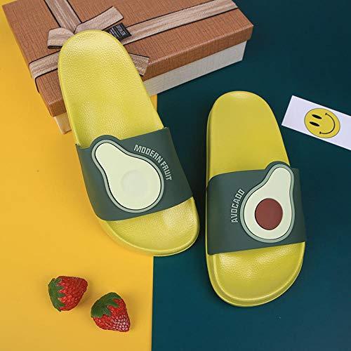 YYFF Chanclas para Adulto Mujeres,Indoor Summer Slippers,Outdoor Fruit Sandals-Green_38/39,Zapatillas de Casa
