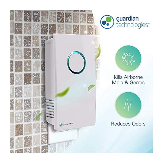 GermGuardian GG1100W Elite Pluggable UV-C Sanitizer and Deodorizer, Kills Germs, Freshens Air and Reduces Odors from… 2 PLUGGABLE AIR SANITIZER : Provides cleaner air and helps reduce airborne germs and reduce household odors caused by bacteria, pets, and cooking fumes COMPACT DESIGN: This 7 inch wall pluggable sanitizer is perfect for the kitchen, litter box room, bathroom, or childrens' room REDUCES ODORS : Reduce unwanted odors from pets, smoke, cooking fumes, and more
