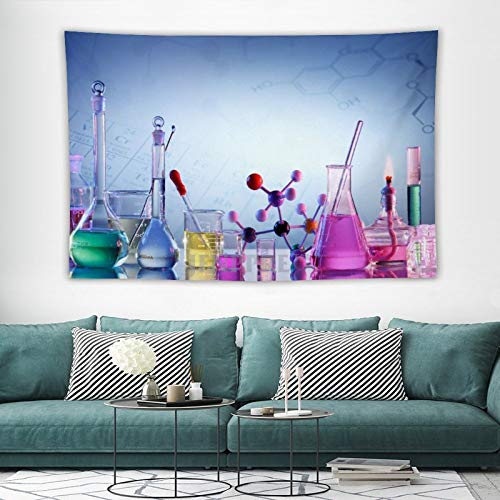 Tapestry Wall Hanging, Chemistry Lab Apparatus Chemist Set Tools Tapestries Wall Decor for Dorm Living Room Bedroom 150x100 cm