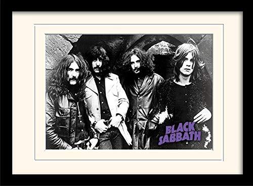 Black Sabbath Photo Mounted & Framed 30 x 40cm Print, MDF, Multi-Colour, 42 x 32 x 2.4 cm