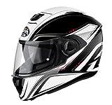 Casco Airoh Full Face Storm Sprinter Blanco Brillo Para Moto