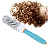 Cepillo de pelo, cepillo redondo profesional Cepillo redondo de cerámica Cepillo de rodillo de tubo de aluminio Cepillo de barril de peinado con calor preciso portátil para salón elegante(32#)