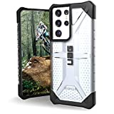 URBAN ARMOR GEAR UAG Designed for Samsung Galaxy S21 Ultra 5G Case [6.8-inch screen] Rugged Lightweight Slim Shockproof Transparent Plasma Protective Cover, Ice