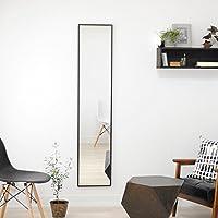 SENNOKI Libra ミラー 32cm×153cm 選べる10色 縦・横どちらにも使える シンプル フレーム幅1cm 木枠 壁掛け 鏡 日本製 ブラック