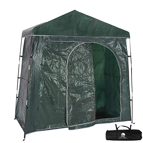 Bravindew Outdoor Bike Storage Shed Tent Heavy Duty Space Saving Bicycle Garden Pool Storage Sheds Huts All Season Weatherproof Reusable Bike Shed with Waterproof Cover