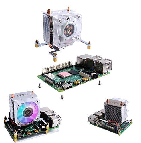 weichuang Elektronisches Zubehör ICE-Tower CPU Lüfter V2.0 Super Wärmeableitung LEDs für RPi 3B+/4B Elektronikteile Elektronikzubehör