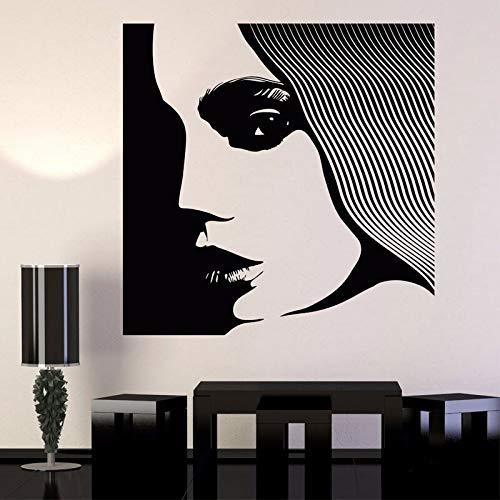 Vinyl Wandtattoo Supermodel Frau Beauty Salon Friseur Aufkleber Schaufenster Dekoration Tapete 84 * 84cm