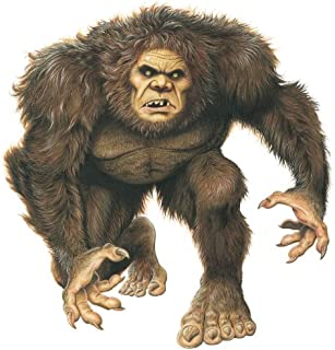 Sasquatch Big Foot Monster Wall Decal by Wallmonkeys Peel and Stick Graphic (30 in H x 29 in W) WM102390