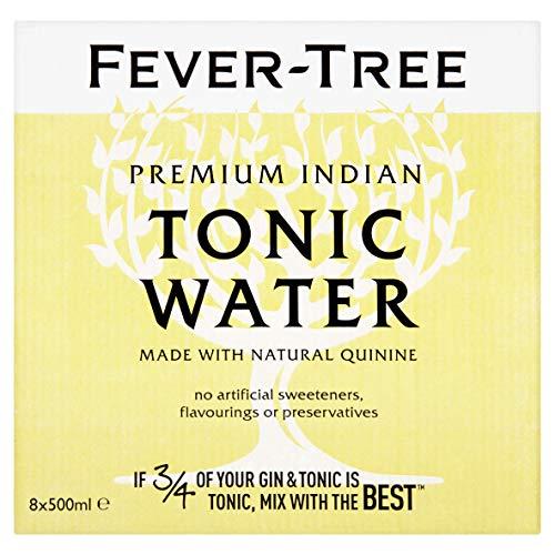 Fever Tree Indian Tonic Water, 0,5 Liter Flasche, EINWEG (1 x 500 ml)