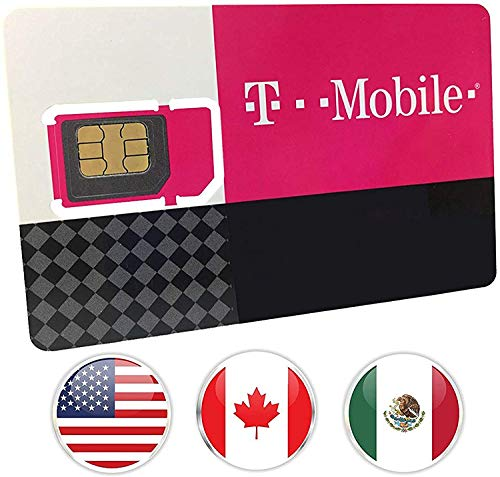 T-Mobile Prepaid SIM Card Unlimited Talk, Text, and Data in USA with 5GB Data in Canada and Mexico for 30 days