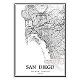 USA CA San Diego schwarz & weiß minimalistische Kunst