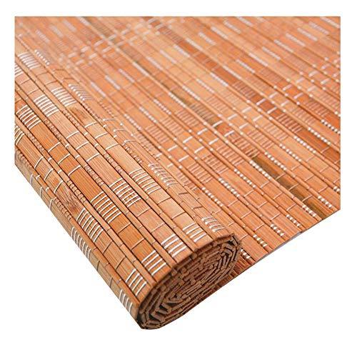 CHAXIA Persiana De Bambú Enrollable Terraza Sala De Estudio Luz De La Cubierta Protector Solar Dividir Cortina Uso Interior/Exterior, 2 Colores, Múltiples Tamaños Personalizable