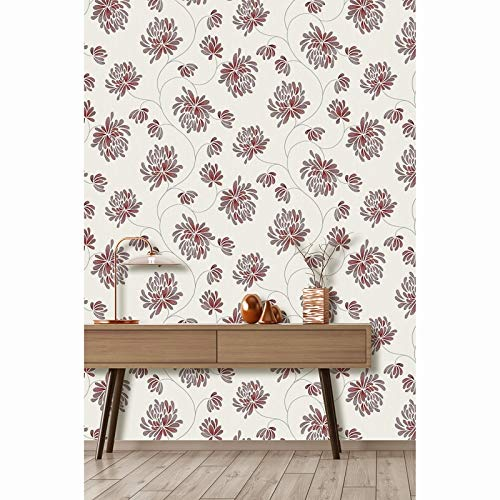 Cream Damask Wallpaper Taupe Effect Feature Debona Chelsea Traditional Feature