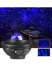 LEDスタープロジェクターライト 星空ライト ベッドサイドランプ 21種点灯モード 2in1レーザー /USBメモリに対応 リモコン式 BT-4.2音楽プレーヤー タイマー機能付き 音声制御 輝度/音量調整可 2020最新版 プラネタリウム/クリスマス/常夜灯/夜間ライト/雰囲気作り/ハロウィン/パーテイー/プレゼント/誕生日ギフト12ヶ月品質保証付き ZENICブラック