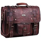 Handmade World Leather Messenger Bags For Men Women Briefcase Laptop Computer Satchel Distressed Bag (12' X 16')